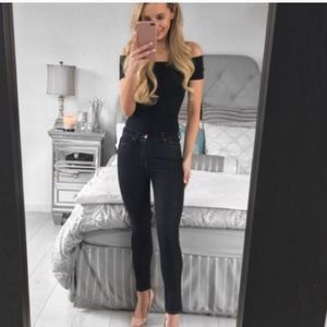 All Saints Jeans - All Saints Nim High Waisted Cropped Skinny Jeans